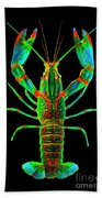 Crawfish In The Dark - Orivibsat Beach Towel