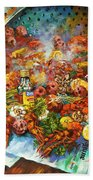 Crawfish Time Beach Towel