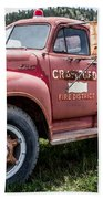 Crawford Fire Truck  Beach Towel