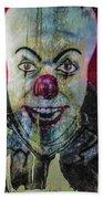 Crazy Clown Beach Towel