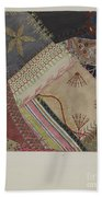 Crazy Quilt (detail) Beach Towel