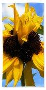 Crazy Sunflower Look Beach Sheet
