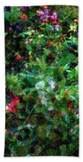 Crazyquilt Garden Beach Towel