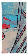 Cream Colored Door Beach Towel
