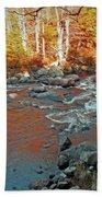 Creek 5  Beach Towel