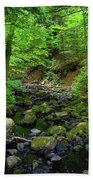 Creek Crossing In Ma Beach Towel