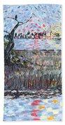 Creek Impressions #2 - Nocturne  Beach Towel