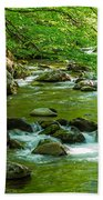 Creek In Great Smoky Mountains National Beach Towel