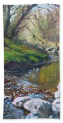 Creek In The Woods Beach Towel