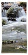 Creek With Rocks Spring Scene Beach Towel