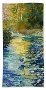 Creekside Tranquility Beach Towel