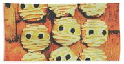 Creepy And Kooky Mummified Cookies  Beach Towel