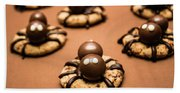 Creepy Crawly Spider Bites. Halloween Food Beach Sheet