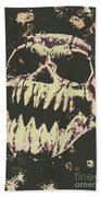 Creepy Face From Nightmares Past Beach Towel