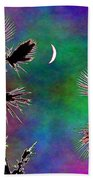 Crescent And Palms 2 Beach Towel