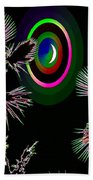 Crescent And Palms 3 Beach Towel