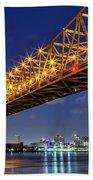 Crescent City Bridge, New Orleans, Version 2 Beach Towel