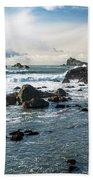 Crescent City Shoreline Beach Towel