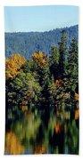 Crescent Lake Fall Colors Beach Towel