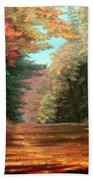 Cressman's Woods Beach Towel by Hanne Lore Koehler