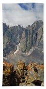 210925-crestone Needle And Peak  Beach Towel