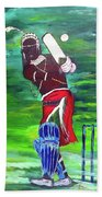 Cricket Warrior Beach Towel