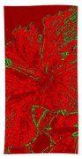 Crimson Hibiscus Beach Towel