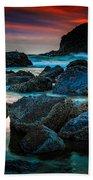 Crimson Skies Beach Towel