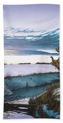 Crisp Winter Light Beach Towel