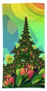 Cristmas Tree 2 Beach Sheet