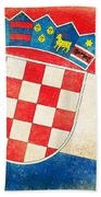 Croatia Flag Beach Towel by Setsiri Silapasuwanchai