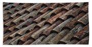 Croatian Roof Tiles Beach Towel