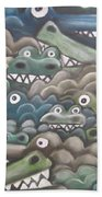 Crocodile Soup Beach Towel