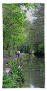 Cromford Canal - Tree Lined Walk Beach Towel