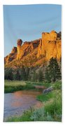 Crooked River And Monkey Face At Smith Rock Beach Towel