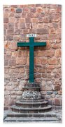Cross And Cusco Cathedreal Beach Towel