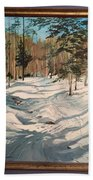 Cross Country Ski Trail Beach Towel