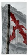 Cross Of Burgundy And Spanish Crest Beach Towel