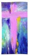 Cross - Painting #5 Beach Towel