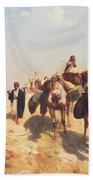 Crossing The Desert Beach Towel by Jean Leon Gerome