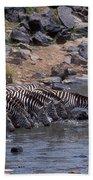 Crossing The Mara River Beach Towel