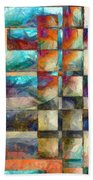 Crossover Abstract Pencil Beach Towel