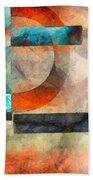 Crossroads Abstract Beach Towel