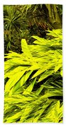 Croton Cascading Down The Hillside Beach Towel