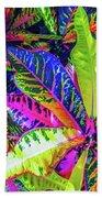 Croton Foliage Beach Towel
