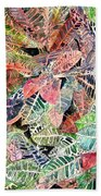Croton Tropical Art Print Beach Towel