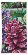 Crotons 1 Beach Towel