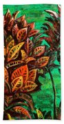 Crotons 5 Beach Towel