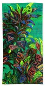 Crotons 7 Beach Towel