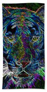 Crouching Tiger Beach Towel